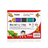 200g 10colors*10bars Color Plasticine Modelling Clay / Play Dough