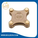 Lightning Protection Copper Alloy Earthing Grounding Cross Square Tape Clamp