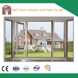 Aluminium PVC Casement Window with Fixed Panel