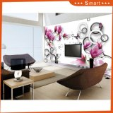 Swimming Fishes and Peach Blossom 3D Design for Home Decoration Oil Painting