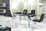 (ST-102) Home Furniture Dining Room Tempered Glassl Dining Table