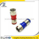 F Male Waterproof RF Connector for Rg59/RG6 Coaxil Cable
