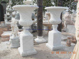 Marble Carving Flowerpot for Garden Planter