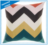 Coloblock Printed Polyester Filled Cushion