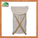 Oxford Fabric Laundry Basket with Bamboo Frame/ Dirty Clothes Bag