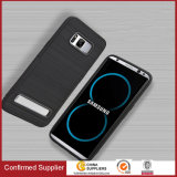 New Design Wiredrawing Grain Kickstand Phone Case for Samsung Galaxy S8