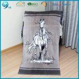 100% Cotton Velour Custom Animal Horse Design Beach Towel Print