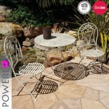 Wrought Iron Outdoor Furniture Table with Chairs