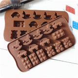 Fiveteen Mini Car Wooden Horse Babybear Shape Silicone Cake Mold with 21*10.5*1.5cm