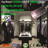 15W 90+Ra LED Tracklight Citizen COB with Osram Non-Flicker Driver Global Adaptor