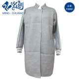 Gray Letters Long Sleeve Stand Collar Loose Newstyle Blouse