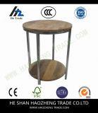 Hzct025 Berwyn End Table Metal and Wood Rustic Brown