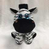 Glitter Big Eye Sitting Stuffed Plush Zebra
