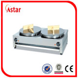 Non-Stick Electric Crepe Maker, Double Plate Counter Top Pancake Machine with Ce for Sale