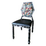 Metal Restaurant Cafe Dining Chairs with Hexagonal Backrest (JY-R07)