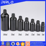 Black Series of Round Essential Oil Glass Bottle