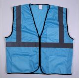 Blue Reflective Vest with Multi-Pockets, Direct Factory