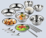 Factory OEM Stainless Steel Round Food Tray