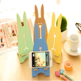 Color The Lazy Wooden Rabbit Mobile Phone Stand for iPad and Mobile