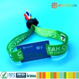 Secure E-ticket system MIFARE Plus S 2K RFID woven Wristbands