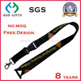 Office Lanyard Custom Length Polyester Neck Strap with Metal Hook & Detachable Buckle