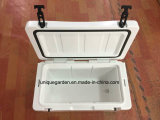 White Roto Molded Ice Cooler Box with Handle