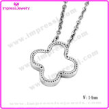 Quality Products Stainless Steel Lucky Clover Crystal Necklace