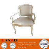 Wooden Furniture Wood Frame Fabric Wooden Armrest Chair