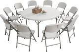 Hot Selling 180cm Plastic Round Folding Table, Dining Table, Banquet Table, All-Purpose Table