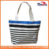 New Stylish High Quality Leather Ladies Bags Striped Printed Handbag