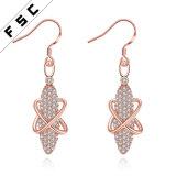 Rose Gold Plated Water Drop Earrings Women Fashion Jewellery