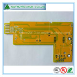 2 Layer Yellow Solder Mask PCB with HASL Lf