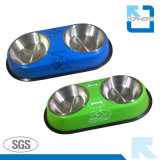 Colorful Stainless Steel Pet Bowl & Dog Feeder