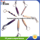 Promotional Wooden Twist Pen with Key Chain