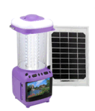 Portable Rechargeable Lanterns for Indoor, Solar Outdoor Light with TV