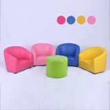 Round Back Children Leather Sofa and Chair/Baby Furniture (SF-12)