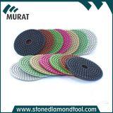 """4""""/100mm Magic Tape Backing Flexible Resin Wet Floor Polishing Pad for Granite"""