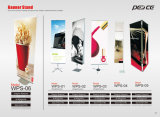 Retractable Roll Display Pull up Banner Stand
