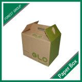 Brown Custom Printed Corrugated Box with Handle