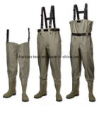 PVC Fishing Pants with PVC Boots Wader