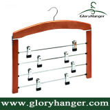 Multifunctional 4 Layer Cherry Wooden Pants Hanger Factory Supply