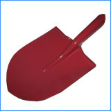 Painted Steel Sharp Point Shovel Head, Metal Spade Head