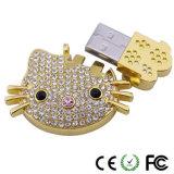 Lovely Cartoon Diamond Cat Shape USB Flash Drive, U Disk