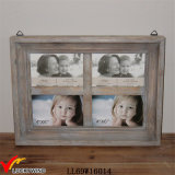 Vintage Gray Multi Opening Shabby Chic Wall Photo Frames