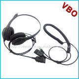Binaural Call Center Rj 9 Headset with Noise Cancelling Microphone