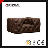 Orizeal Soho Tufted Genuine Leather Chair (OZ-LS-2034)