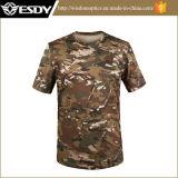 Wholesale Military Summer Men′s Round Collar Short Sleeve T-Shirt