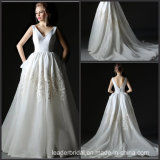 Sleeveless Bridal Gown Lace A-Line Wedding Dress Ay83