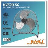 "Powerful 20"" High Velocity Floor Fan with Chromed Finish"