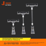 Transparent Ju-101 102 103 Two Side Sign Clips for Store